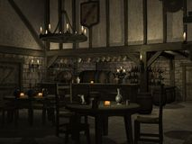 Medieval Tavern. 3 D Render of an Medieval Tavern Royalty Free Stock Image