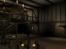 Medieval Tavern. 3 D Render of an Medieval Tavern Royalty Free Stock Photography