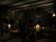 Medieval Tavern. 3 D Render of an Medieval Tavern Royalty Free Stock Photos