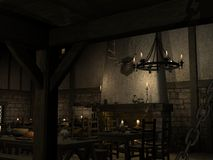 Medieval Tavern. 3 D Render of an Medieval Tavern Royalty Free Stock Images