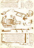 Medieval technology and Industry - vector pack Stock Images