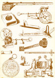 Medieval technology and Industry - vector pack Royalty Free Stock Photos