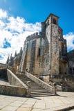 Medieval Templar castle in Tomar, Portugal. Landmark in Europe. Royalty Free Stock Images