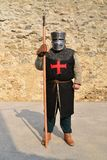 Medieval templar warrior Royalty Free Stock Images