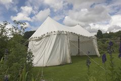 Medieval Tent. In a garden Stock Photography