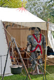 Medieval tent and armour Royalty Free Stock Image