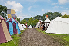 Medieval tent encampment Royalty Free Stock Photo