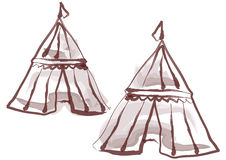 Medieval Tents Stock Photography
