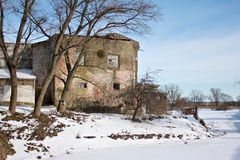 Medieval Teutonic castle Labiau in the Polessk. Kaliningrad region. Russia Royalty Free Stock Photos