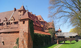 Medieval Teutonic castle in Malbork. The old gothic castle in Malbork, Poland Royalty Free Stock Photos