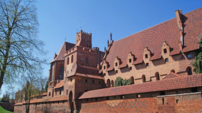 Medieval Teutonic castle in Malbork. The old gothic castle in Malbork, Poland Stock Photography