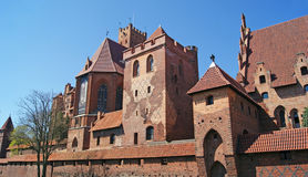 Medieval Teutonic castle in Malbork. The old gothic castle in Malbork, Poland Royalty Free Stock Photography