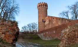 Medieval Teutonic castle in Poland Royalty Free Stock Photography