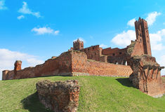 Medieval Teutonic castle in Radzyn Chelminski. Poland Stock Image