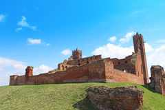 Medieval Teutonic castle in Radzyn Chelminski. Poland Royalty Free Stock Photo