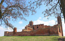 Medieval Teutonic castle in Radzyn Chelminski. Poland Royalty Free Stock Photos