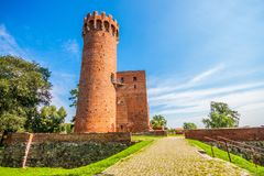 Medieval Teutonic castle in Swiecie. Poland Stock Images
