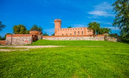 Medieval Teutonic castle in Swiecie. Poland Royalty Free Stock Photos