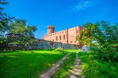 Medieval Teutonic castle in Swiecie. Poland Royalty Free Stock Images