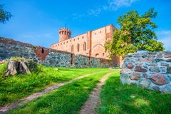 Medieval Teutonic castle in Swiecie. Poland Stock Image