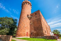 Medieval Teutonic castle in Swiecie. Poland Stock Photo