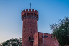 Medieval Teutonic castle in Swiecie at night. Poland Royalty Free Stock Images