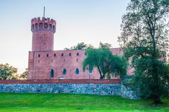 Medieval Teutonic castle in Swiecie at night. Poland Royalty Free Stock Photography