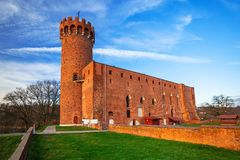 Architecture of medieval Teutonic Castle in Swiecie. Medieval Teutonic Castle in Swiecie, Poland Royalty Free Stock Image