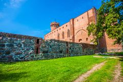 Medieval Teutonic castle in Swiecie. Poland Royalty Free Stock Photo
