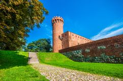 Medieval Teutonic castle in Swiecie. Poland Stock Photos
