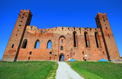 Medieval Teutonic Order castle in Radzyn Chelminski, Poland Royalty Free Stock Photos