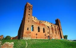 Medieval Teutonic Order castle in Radzyn Chelminski, Poland Stock Photography