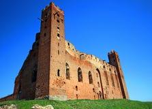Medieval Teutonic Order castle in Radzyn Chelminski, Poland Royalty Free Stock Photos