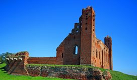 Medieval Teutonic Order castle in Radzyn Chelminski, Poland Royalty Free Stock Images
