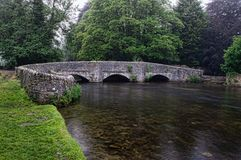 Medieval three arch sheep wash bridge in the Peak District. royalty free stock photography