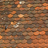 Medieval tiled roof texture. Royalty Free Stock Photography