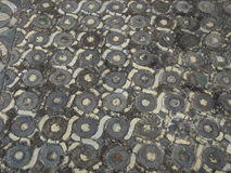 Medieval tiles stock image