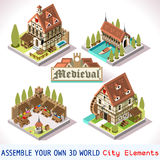 Medieval 03 Tiles Isometric Stock Image