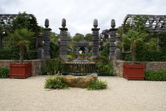 Medieval timber fountain in Arundel castle garden, England Royalty Free Stock Image