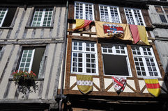 Medieval timber-framed building. Stock Photos