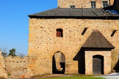 Tocnik castle in Czech Republic. Medieval Tocnik castle in Bohemia, Czech Republic Stock Photos