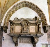 Medieval tomb in the Basilica of Saint Anthony of Padua Stock Photography