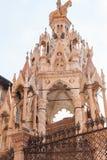 Medieval tomb of Cansignorio della Scala in Verona Royalty Free Stock Photo
