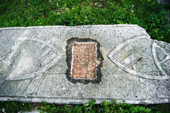 Medieval tombstone Stock Photos