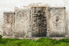 Medieval tombstones from the 17th century Royalty Free Stock Images