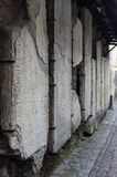 Medieval tombstones on the wall of Catherine's Alley Royalty Free Stock Photography