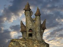 Medieval Toon Castle Royalty Free Stock Photo