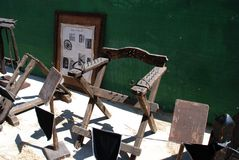 Medieval torture chair. Royalty Free Stock Photography