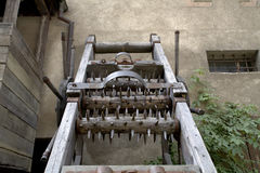 Medieval torture rack. Old (Medieval) torture rack in castle in Prague (Czech Republic Royalty Free Stock Images