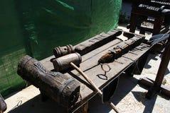 Medieval torture rack. Stock Images